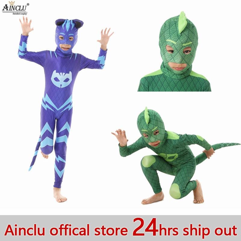 Ainclu marca 24 hrs nave Catboy Owlette Gekko Cosplay héroe de dibujos animados cumpleaños Halloween para chico niños niñas trajes máscara regalo