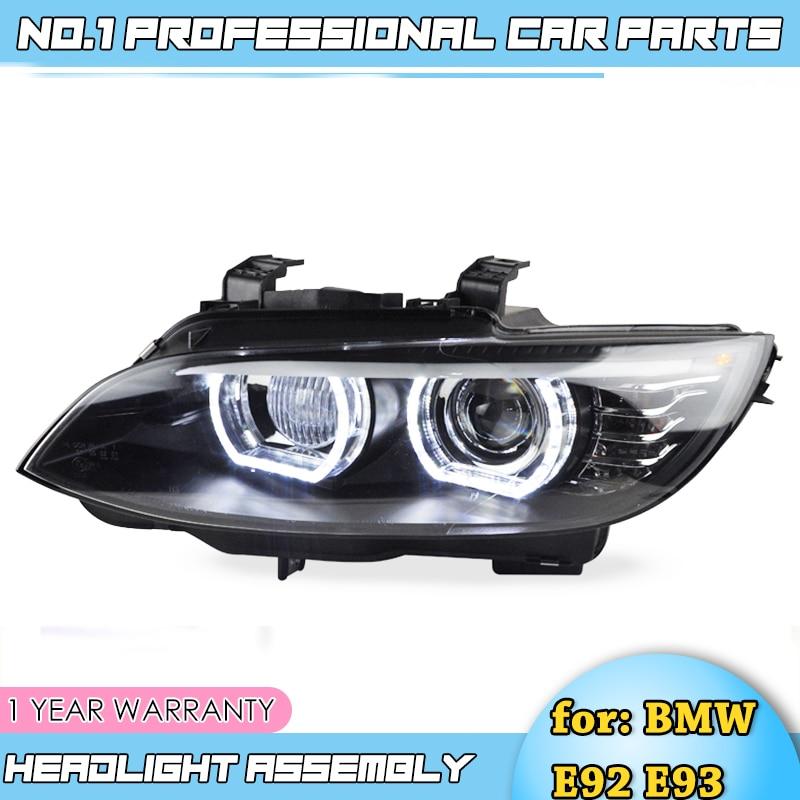 Style de voiture-pour BMW M3 E92 E93 2006-2012 phare pour BMW 335i phare Auto LED DRL Double faisceau H7 HID xénon bi xénon lentille