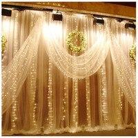 2 m * 2 m 3 m * 3 m 6 m * 3 m fairy string ijspegel led gordijn licht Outdoor Home Xmas Kerst Wedding tuin partij decoratie 220 V 110 V