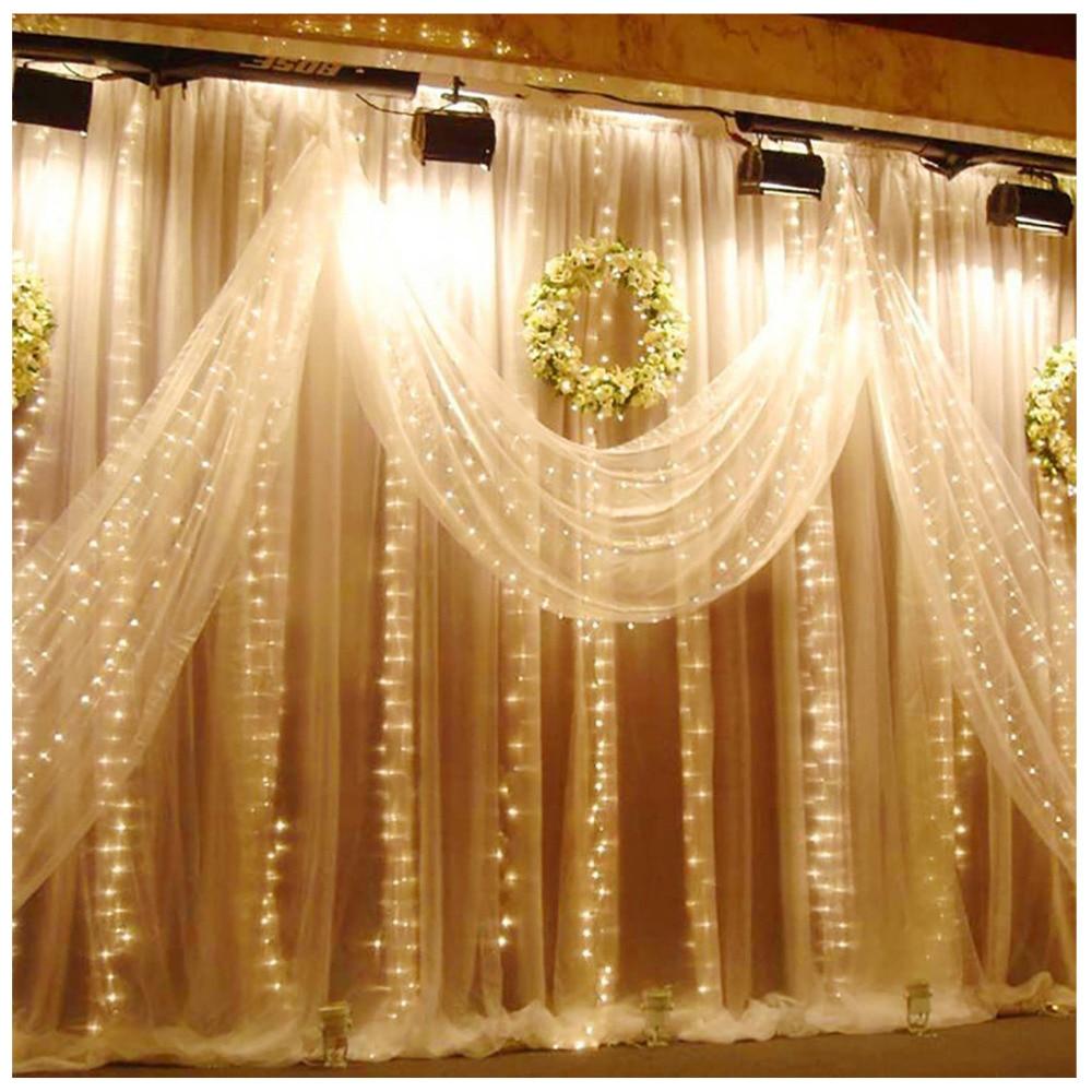 patio lights 3m led curtain fairy lights string outdoor garden party wedding wall decoration garden patio itkart org