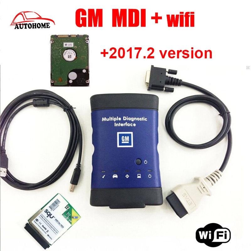 Top vente GM MDI wifi hdd 2017.2 en option Multiple Diagnostic Interface gm mdi Outil De Diagnostic avec l'expédition libre de DHL