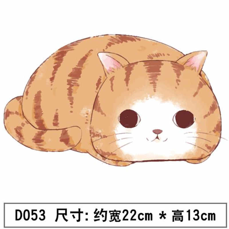 Women Clothes 220mm Cute big fat cat Iron on transfer Printing Flower Patches for clothing T-shirt Biker Patch Heat PVC Stickers