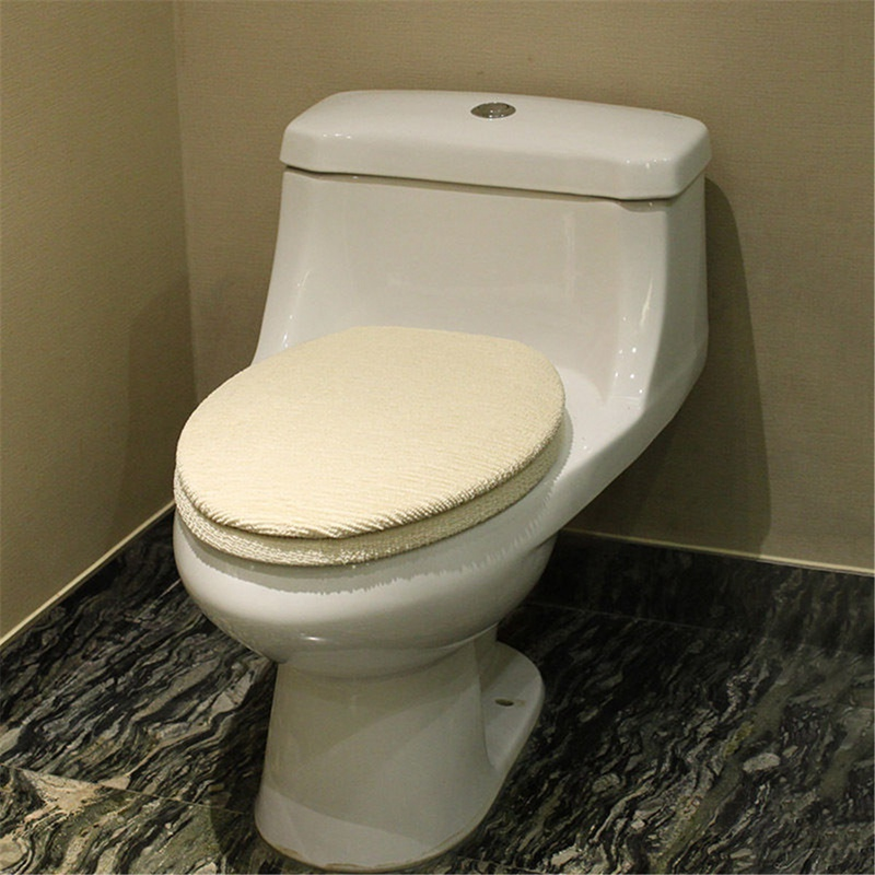 2pcs Set Bathroom Toilet Seat Cover Lid Pad Toilet Seat