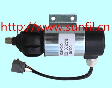 Wholesale  Fuel Shutdown Solenoid 873754 OE52318  24V,2PCS/LOT 3924450 2001es 12 fuel shutdown solenoid valve for cummins hitachi