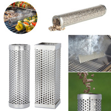 Stainless Steel BBQ Grill Smoking Mesh Tube Smoker Wood Pellet Outdoor BBQ Smoker Supplies Tools Accessories