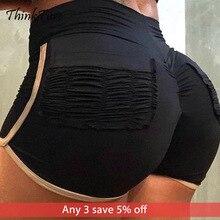 2019 New Gym Fitness Sports Shorts For Women Fold Pocket High Waist Yoga Tummy Control Female Workout Bottoms