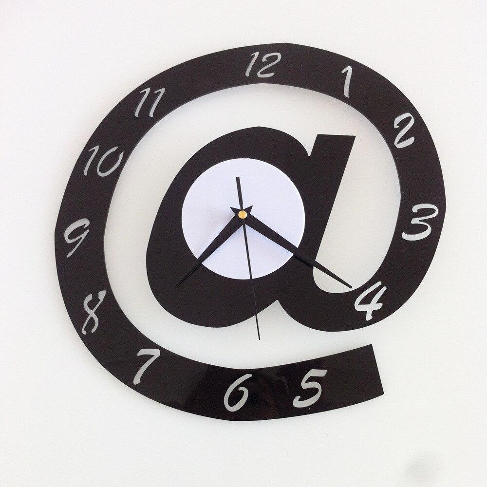 Kancelářské pozadí Akryl @ 3D Stereoskopické nástěnné hodiny Kreativní designér Umělecká samolepka na zeď Tichý digitální hodiny orologio da parete