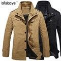 Venda quente de Alta Qualidade Homens Jaqueta de 2015 Novos homens da Moda Roupas casuais Para Homens Casacos Tamanho Grande 3XL Dos Homens Clássicos Coats2189