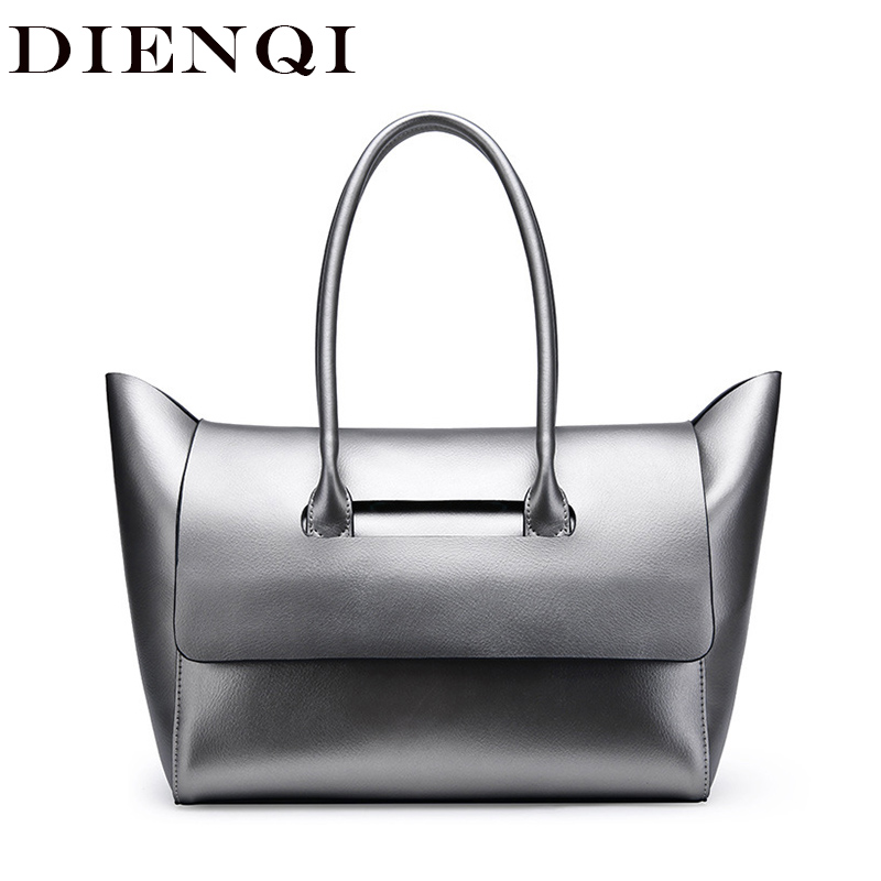 DIENQI Designer Trapeze Genuine Leather Female Shoulder Bags Big Luxury Famous Brand Women Leather Handbags Ladies Tote Hand Bag instantarts famous brand women s large handbags cute animal cat dog shoulder bag ladies big tote bag designer women top hand bag