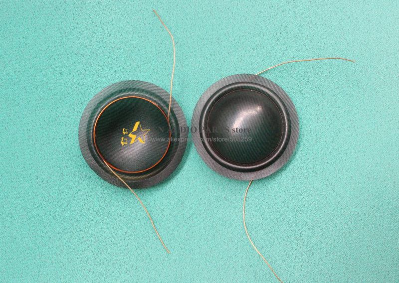 """TWEETER COIL DOME 1/"""" BLACK  25.5mm 8 OHM SPEAKER COIL SOFT SILK DOME"""