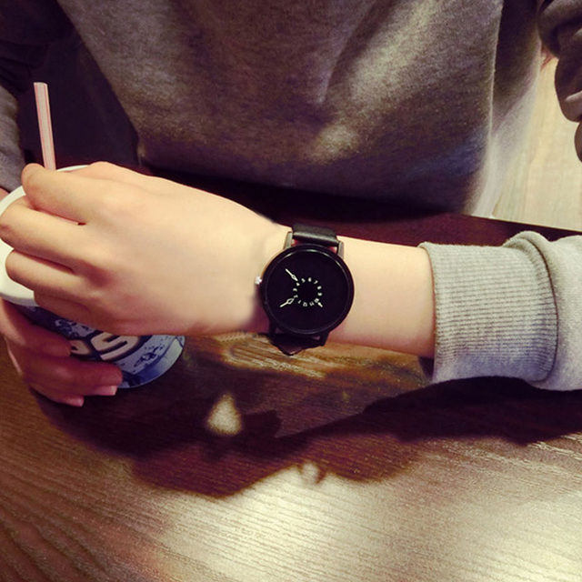 Lovers Couple Quartz Watch Leather Clock Men And Women Wristwatches Personality Student Watches  TT@88 5