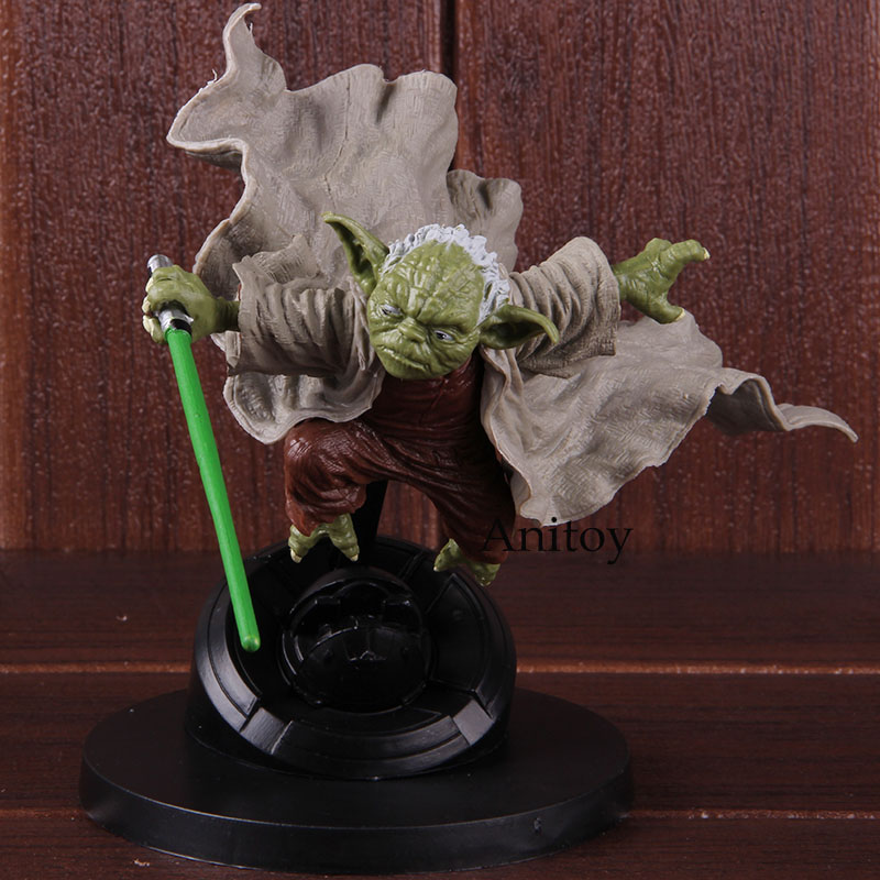 Star Wars Figure Master Yoda Jedi Knight Fighting Version PVC Star Wars Master Action Figure Collectible Model Toy