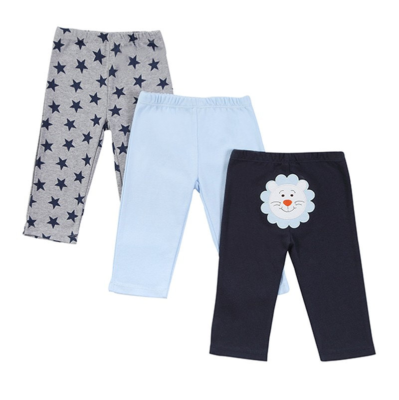 15303 New 2016 Baby Boys Girls 3pcspack Embroidered Animals PP Pants Carter\'s Baby Leg Warm 100% Cotton Trousers Infant Clothing