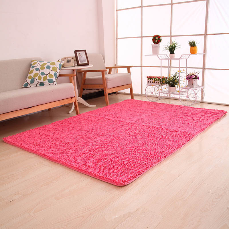40x60cm High Quality Carpet Soft Solid Carpet Chenille Water ...