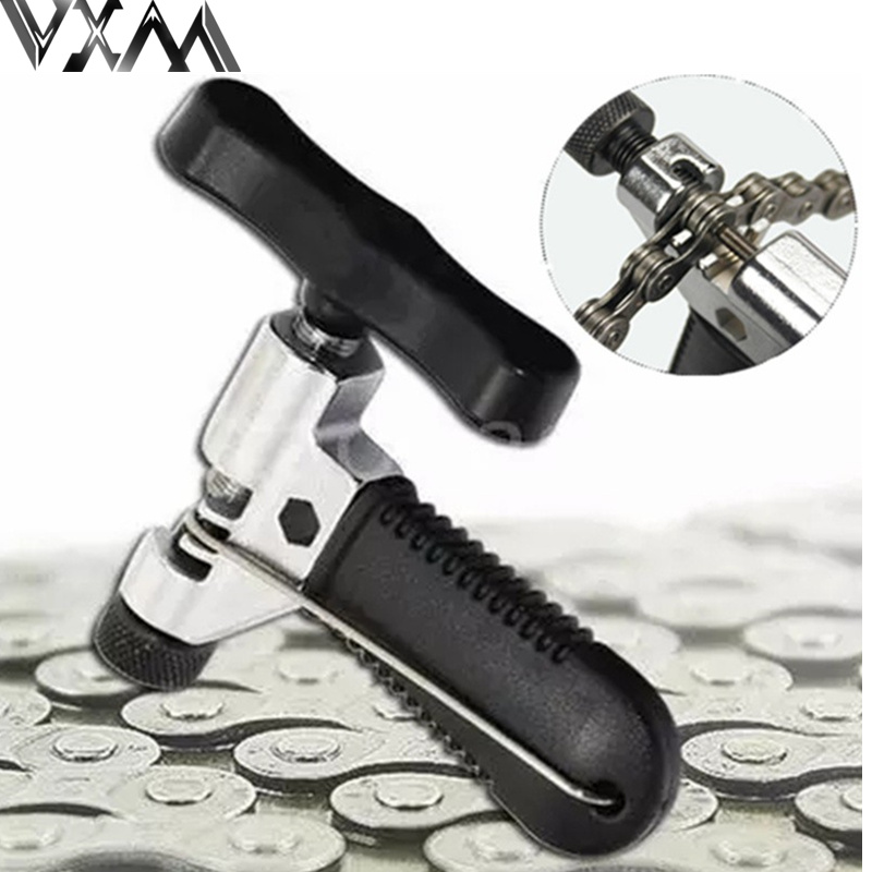цена на VXM Carbon Steel Portable Bicycle Chain Breaker Splitter Cutter Bike Hand Repair Removal Tool Bicycle Chain Pin Splitter Device