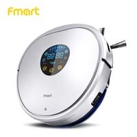 Робот пылесос для дома Fmart YZ U1S, Вакуум пылесосы, Ультрафиолетовая лампа длиной 13 см, Двойной фильтр,Сухая+влажная уборка, Автоматический зар