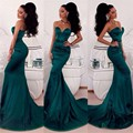 Gorgeous Prom Dresses Sexy Mermaid Pageant Party Gowns Sweetheart Emerald Green 2016 Satin Special Occasion Dresses For Women