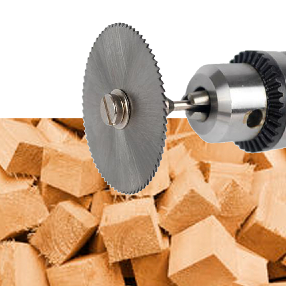 6pcs/set Mini HSS Circular Saw Blade Rotary Tool For Metal Cutter Power Tool Set Wood Cutting Discs Drill Mandrel Cutoff