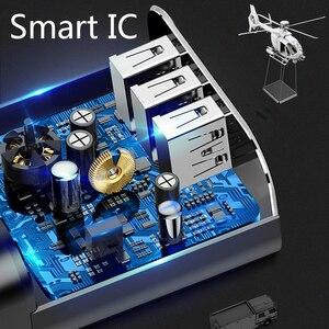 Image 2 - Baseus 3 bağlantı noktaları şarj cihazı dijital ekran 3.4A Max hızlı şarj duvar adaptörü şarj cihazı