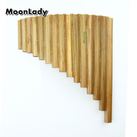 Natural Bamboo Chinese Folk Musical Instrument Pan Flute 15 Pipes G Key Woowind Instrument Panpipes Flauta