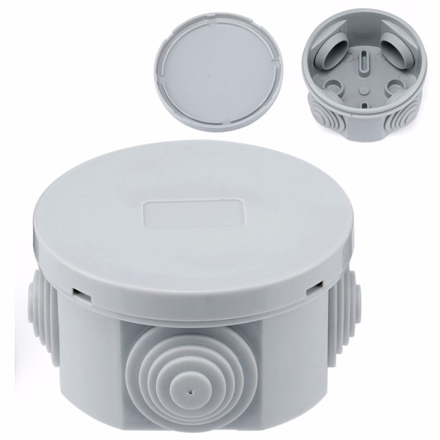 1pc Round Waterproof Weatherproof Junction Box Connection Indoor ...