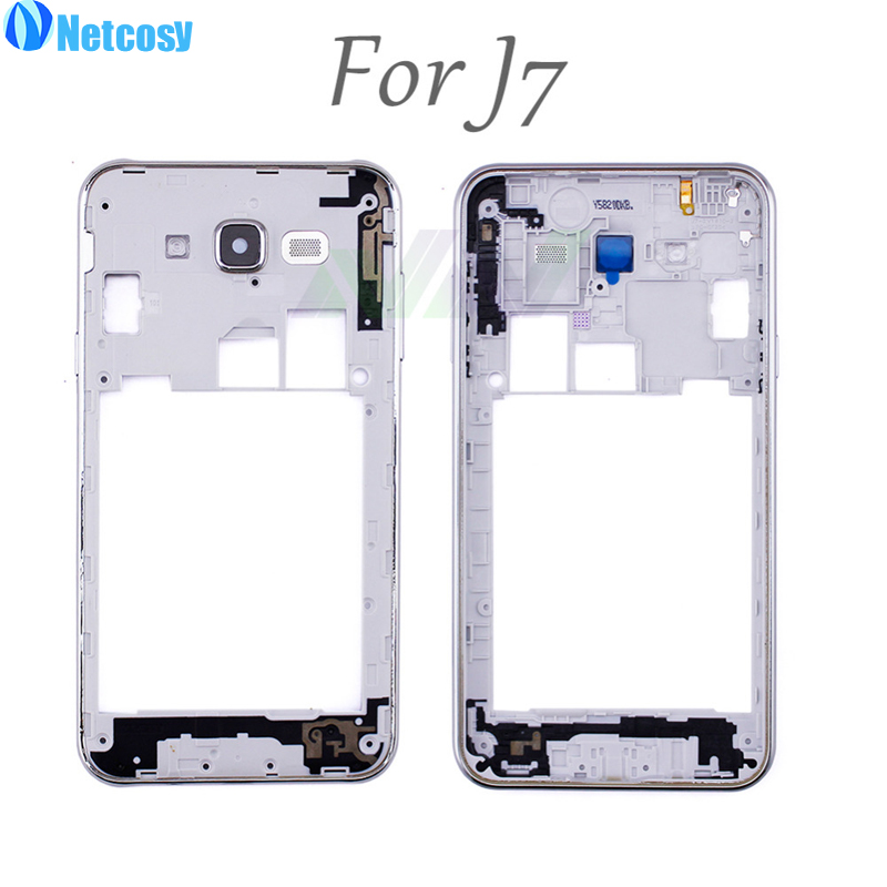 Netcosy Mid Middle Frame Bezel Housing Cover Plate For Samsung Galaxy J7 replacement part repair parts free shipping