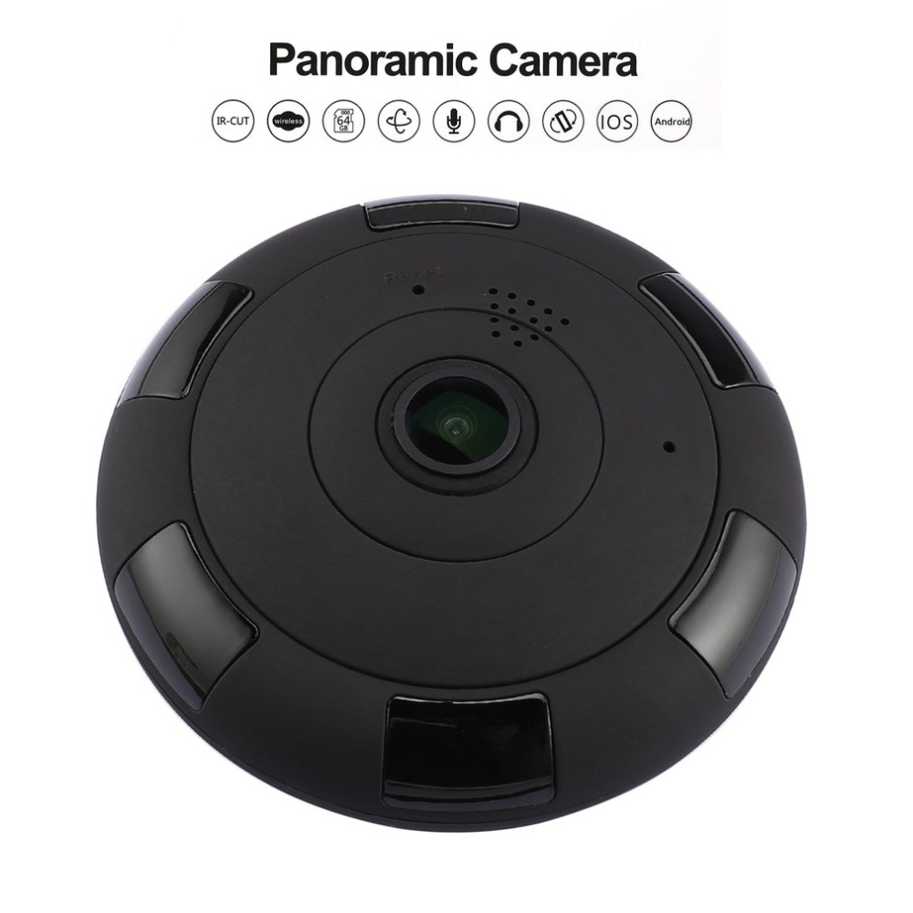 Full View Panoramic Camera WiFi Smart Camera Two-way Voice Intercom Clever Home Security IP Monitor for iOS for Android