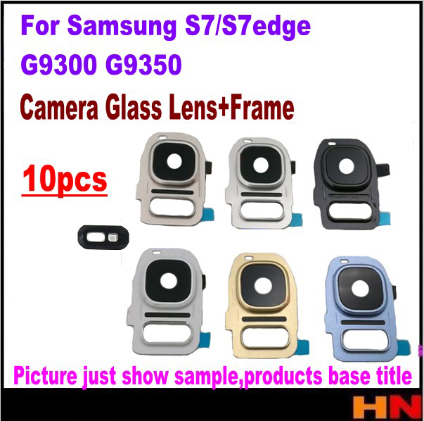 10pcs Back Camera Glass Lens+frame Housing For Samsung Galaxy S7 Edge G935 G9350 G935f/a/t For S7 G930 G9300 G930f/a/t Agreeable To Taste