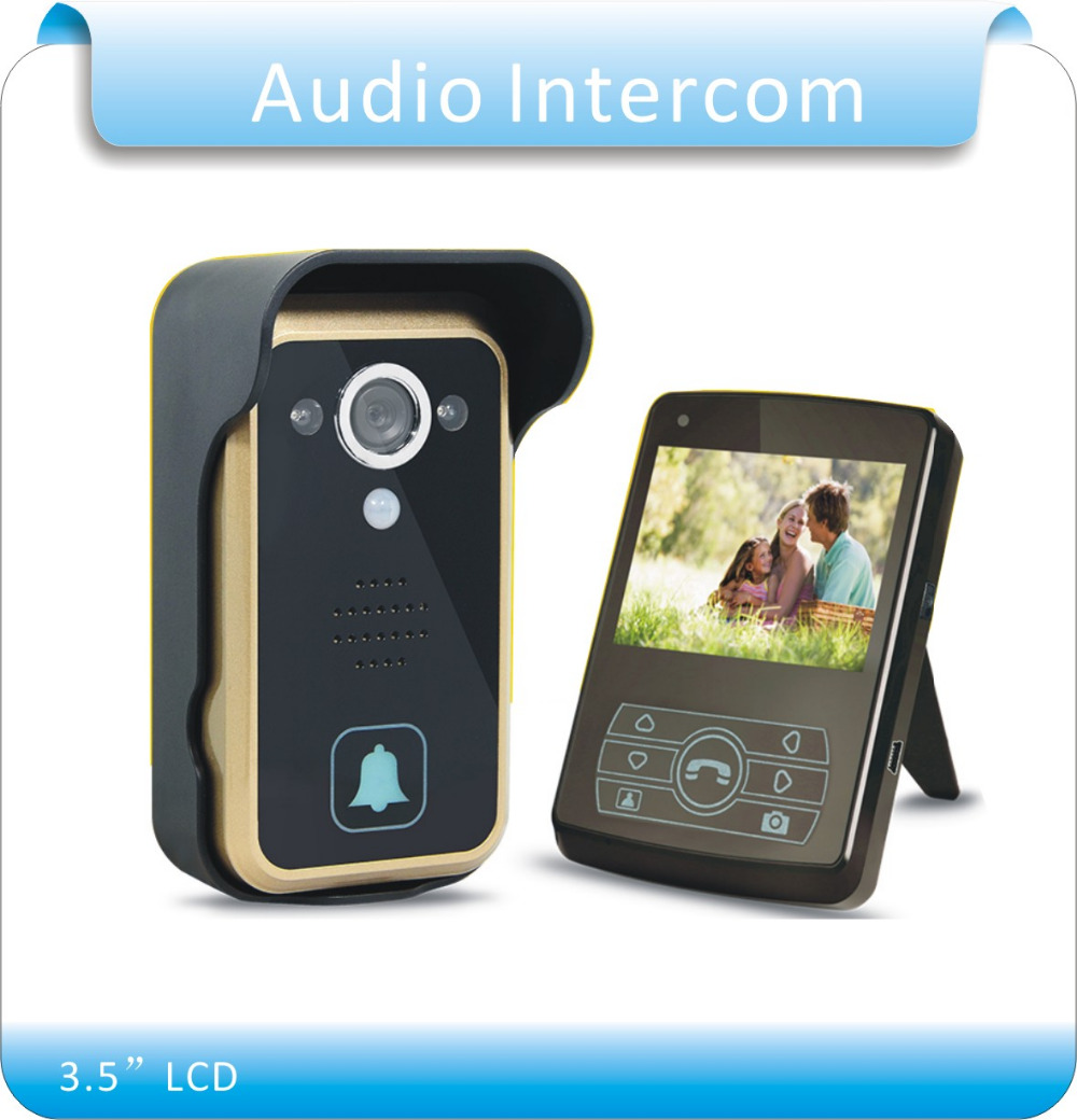 Free Shipping JS305A 2.4G Wireless Doorbell  Outdoor Camera& Indoor Monitor Rainproof Intercom Dual Audio 300M Remote Unlocking