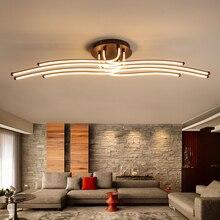 سقف ليد حديث أضواء الإبداعية القهوة بساطتها مصباح لغرفة المعيشة غرفة نوم المنزل تركيبات الإضاءة الألومنيوم مصباح السقف