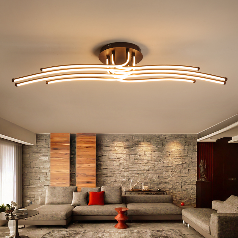 Modern LED Ceiling Lights Creative Coffee Minimalism Lamp For Living Room Bedroom Home Lighting Fixtures Aluminum Ceiling LampModern LED Ceiling Lights Creative Coffee Minimalism Lamp For Living Room Bedroom Home Lighting Fixtures Aluminum Ceiling Lamp
