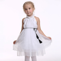 2016 Children Dance Clothing Lovely Bowknot Dress Fashion Princess Short Sleeves Cosplay Fancy Dress Costumes Children EK156