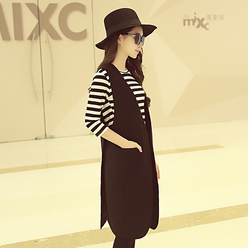 Élégante Poche Office Manches Lady Feminino Colete Veste Gilet Manteau Outwear caramal Solide Femmes Casual Gilets Black Mode Sans Doux A5EqwwI