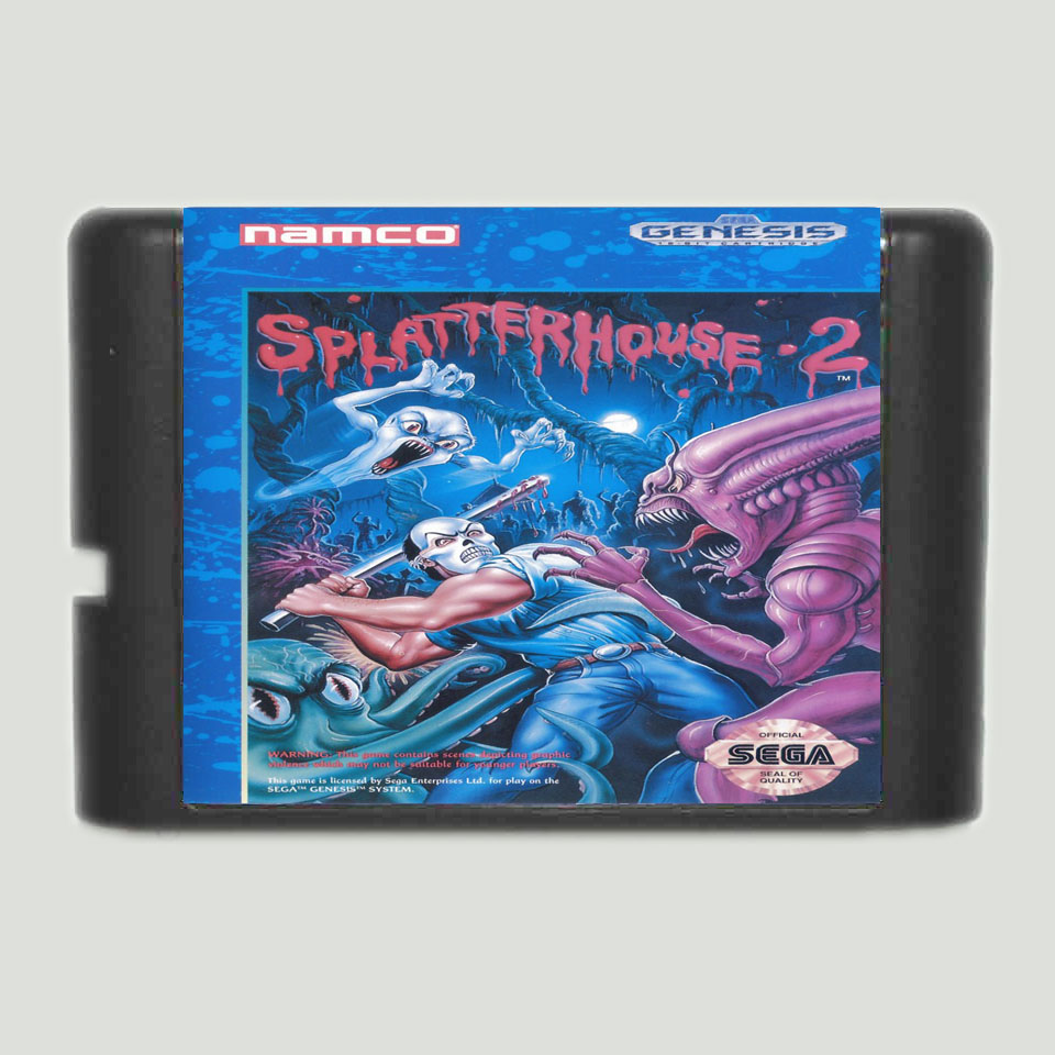 Splatterhouse 2 16 bit MD Game Card For Sega Mega Drive For Genesis