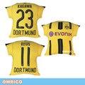 2016-2017 Football Club Home Jersey Borussia Dortmund Cojín Auto Decor Sofá Asiento de Coche Decorativo Deportes Fútbol BVB Tiro almohada