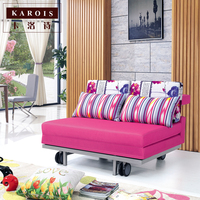 Linen Cloth Modern Living Room Sofa With A Double Sofa Folding Multifunction Simple