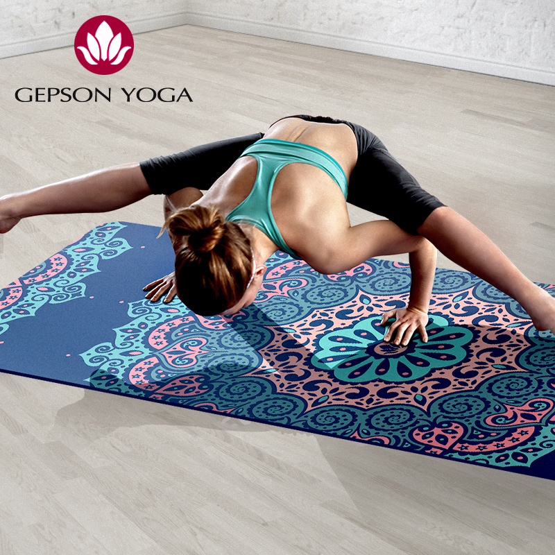 natural rubber Suede YOGA MAT Heathyoga PRO Yoga Mat with Body Alignment Lines, Durable Rubber non slip yoga mat more longer new style 183cm 68cm 5mm natural rubber non slip tapete yoga gym mat lose weight exercise mat fitness yoga mat