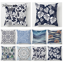 Fuwatacchi Floral Leaf Animals Wave Cushion Cover Deer Flower Abstract Pillows Home Sofa Chair Decor Throw Case