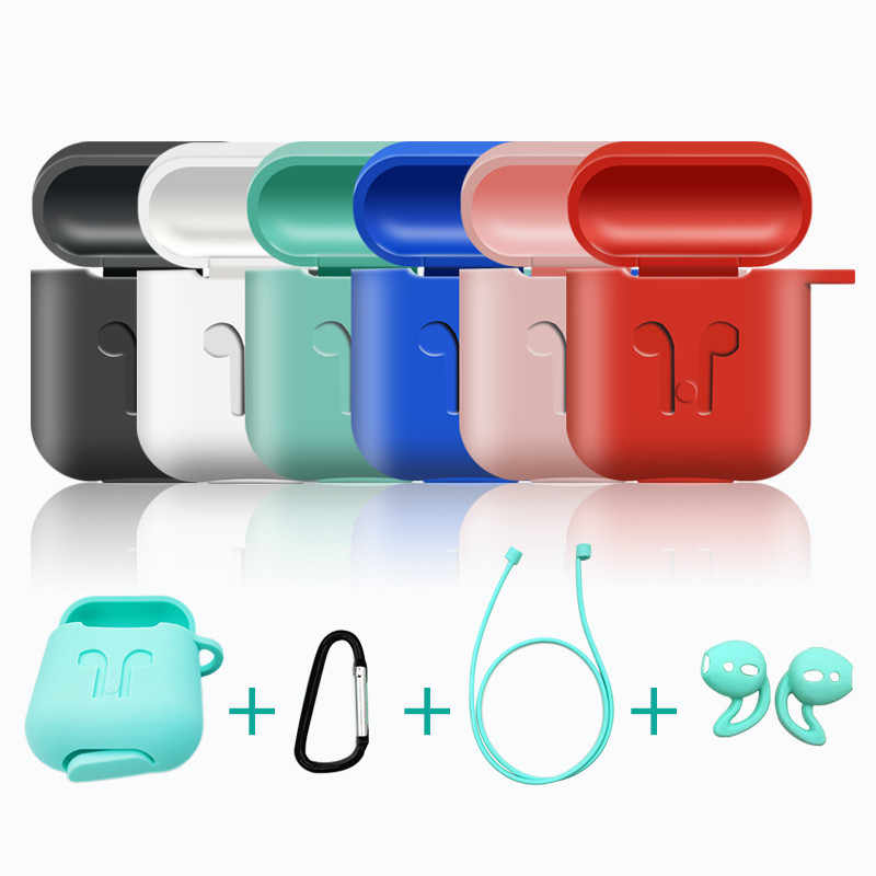 5Pcs/Set Earphone Case For Apple AirPods Accessories AirPod Case Cover For Airpods Apple Soft Silicone Protective Air Pods Cases