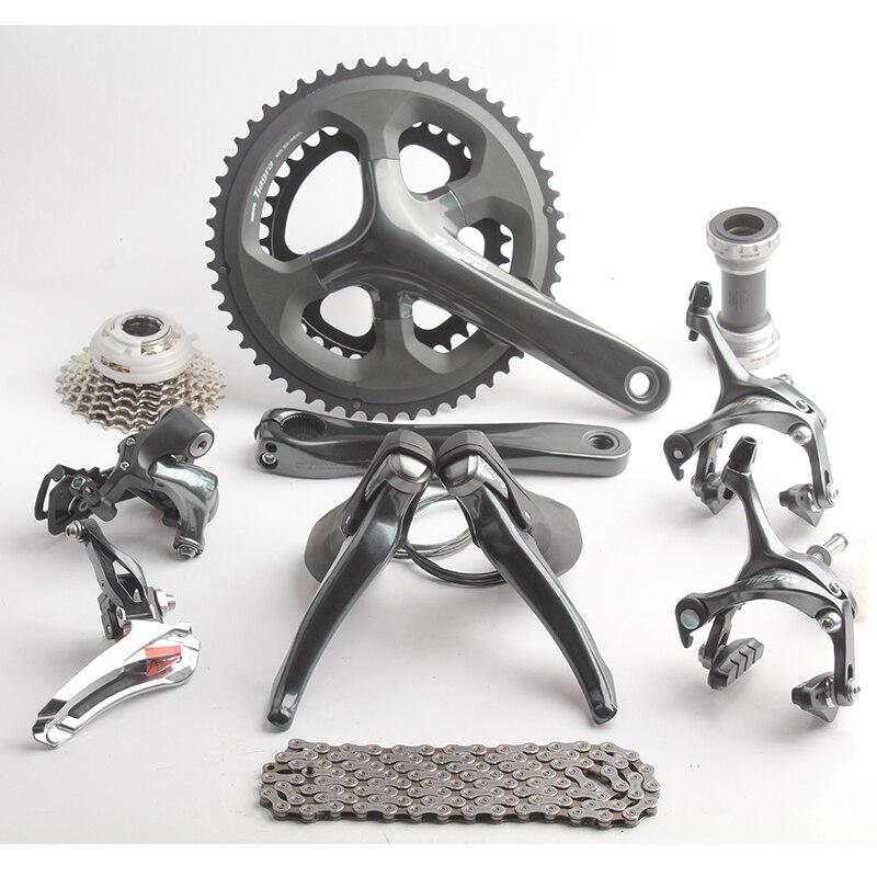 Shimano TIAGRA 4700 Road Bicycle Groupset Bike Kit 10S 20s 2x10S Speed 170mm 52/36T Crankset Bottom Bracket Exchanger Switch цены