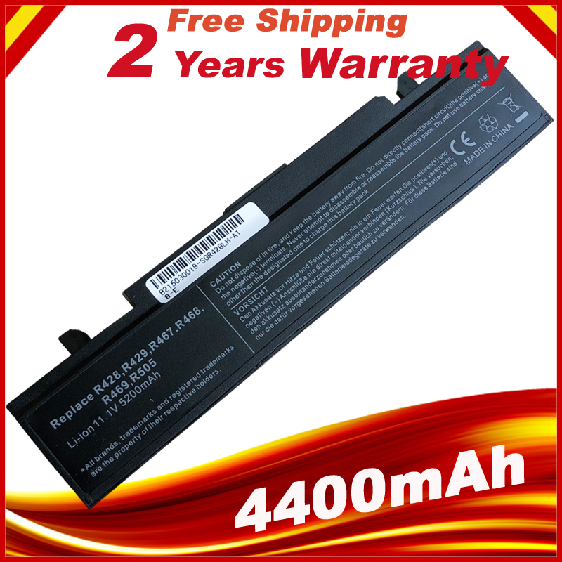 Bateri komputer riba untuk SAMSUNG R580 R540 R530 RV511 R520 R428 R522 NP350V5C R425 R460 AA-PB9NC6B AA-PB9NC6W AA-PB9NS6B