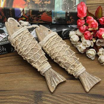 Wooden Fish Boho Home Decor