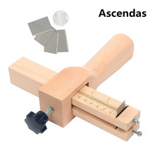 Professional Wood Adjustable Strip and Strap Cutter Craft Tool Leather Hand Cutting Tools DIY Belt Cutting Tools TP-100 cheap ascendas Woodworking Drills TP-001 Case 20*10*5CM