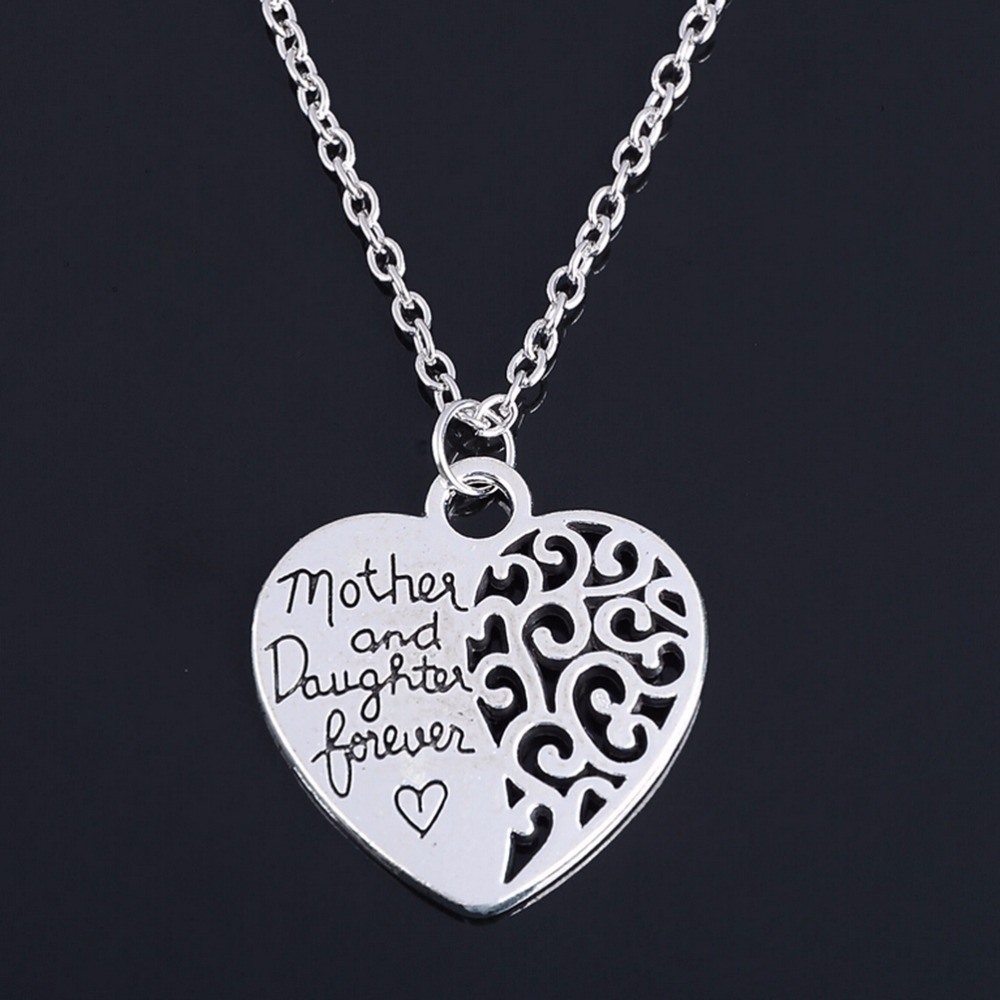 2016 Heart Love Mom Necklaces Pendants For Women Girls ...