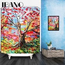 Maple Leaf  Shower Curtain Pattern Customized Shower Curtain Waterproof Bathroom Fabric 180x180cm Shower Curtain For Bathroom
