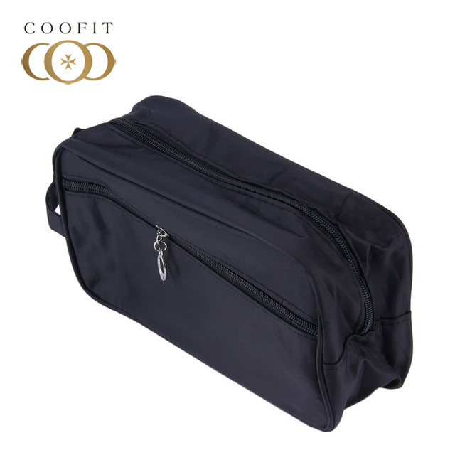 Coofit Unisex Functional Travel Cosmetic Bag Portable Zipper Makeup Case Necessaries Organizer Storage Pouch Male Toiletry Bag Cosmetic Bags
