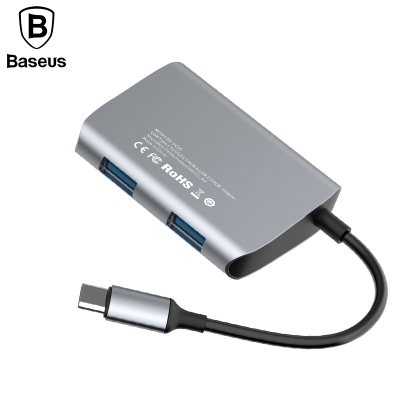 Baseus USB Type C HUB Type-C to USB 3.0 High Speed Type C USB Splitter HUB for MacBook Portable Type-C HUB Adapter for laptop usb c charging hub super speed usb c type c to 4 ports multiport adapter for apple macbook and more type c devices silver href