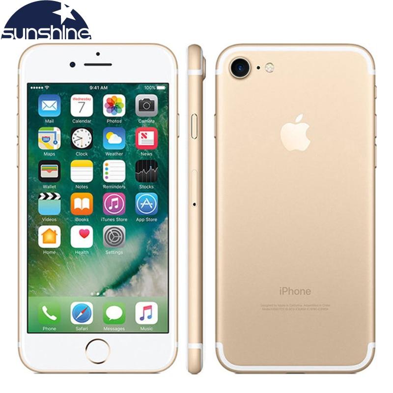 Γνήσια Apple iPhone 7 Quad Core 4G LTE Κινητό τηλέφωνο 4.7''12.0 MP 2G RAM 256GB / 128GB / 32GB ROM Αποτύπωμα IOS 10 Κάμερα Τηλέφωνο