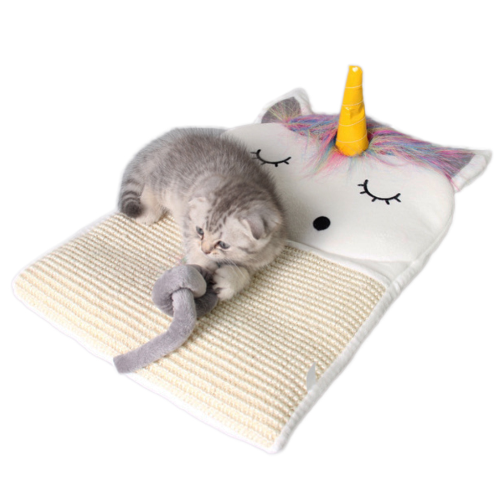 Adorable Cat Scratcher Bed Mat Pad Cat Scratch Board Scratching Post Kitten Grinding Nail Hanging Cat Scratcher Sisal Hemp Toys