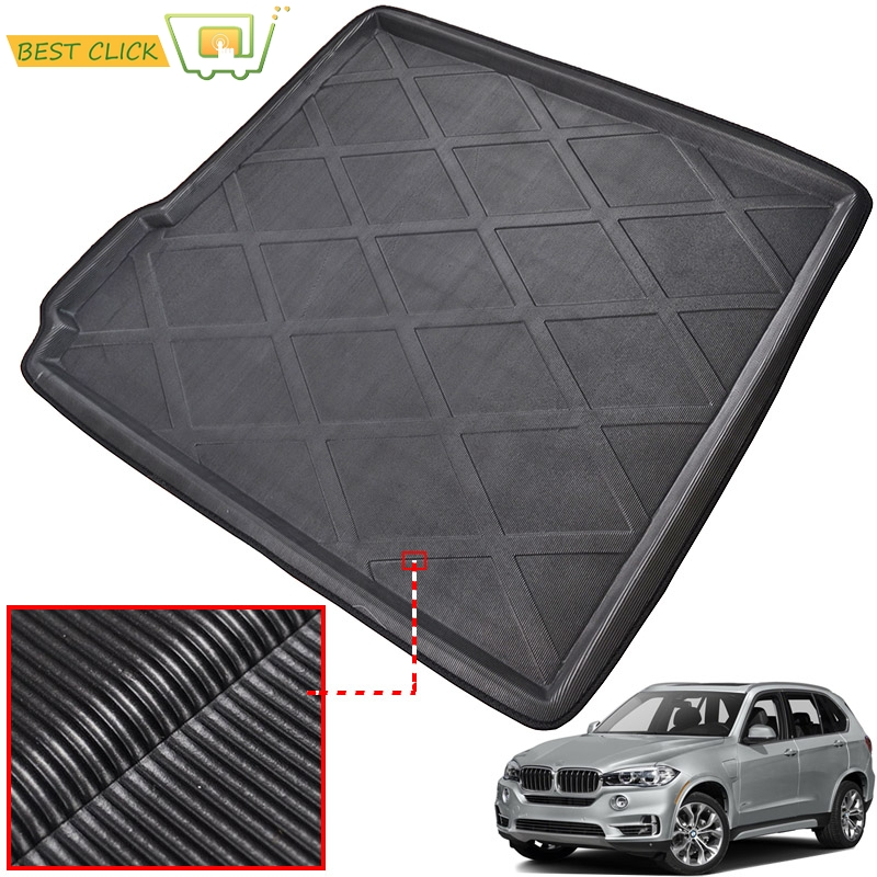 For BMW X5 E70 F15 2007-2018 5-Seats Rear Trunk Mat Cargo Tray Boot Liner Floor Carpet 2008 2009 2010 2011 2012 2013 2014 2015(China)